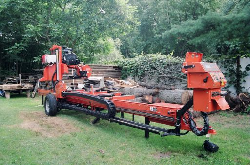 Sawmill In Driveway Plete With Cover Lumber Smith Portable